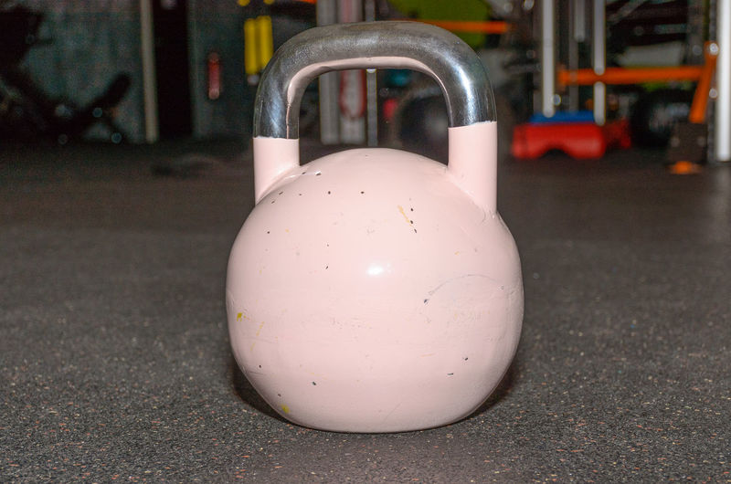 Close-Up Of Kettlebell In Gym