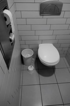 Bathroom Toilet Toilet Bowl Flooring Hygiene Indoors  Tile No People Domestic Room Tiled Floor Wall - Building Feature High Angle View Home White Color Domestic Bathroom Absence Architecture Group Of Objects