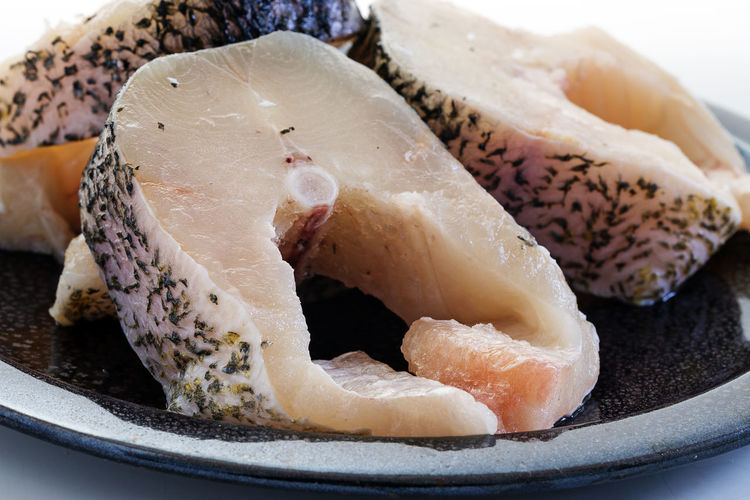 Cooking Freshness Northern Pike Raw Fish Healthy Ingredient Pike Preparing Food Slices White