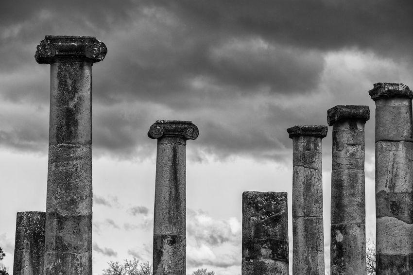 Altilia Architectural Column Architecture Built Structure Cloud - Sky Day Nature No People Outdoors Roman Sanniti Sky