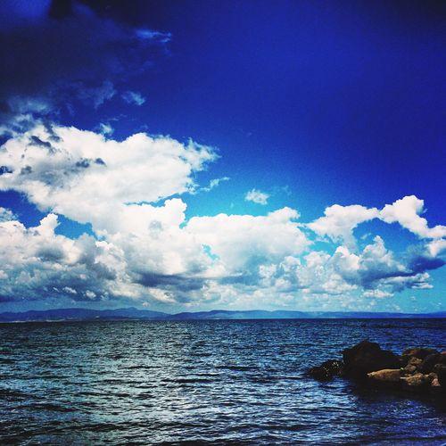 Sunshine Sea Enjoying The Sun Swimming Being A Beach Bum Mine Blue