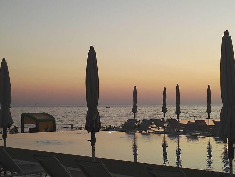 Amarin Resort Kroatia Sea Sunset Horizon Over Water