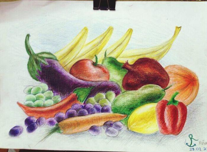 Drawing Fruits Love Like