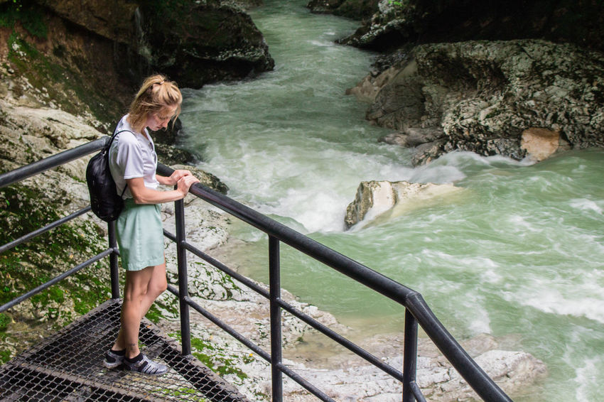 Beautiful Girl Flow  Motion Blur National Park Nature Adult Blond Hair Canyon Casual Clothing Day Girl Motion Nature One Person Outdoors People Portrait Power In Nature Rip Tide Water Water Flow Water In Motion Young Adult