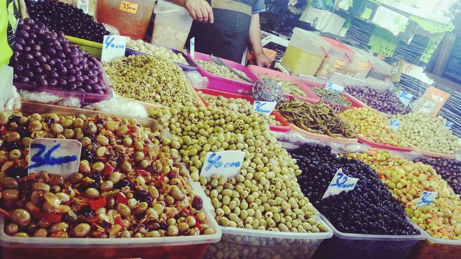 Market Food Large Group Of Objects Price Tag Heap Dried Fruit Multi Colored Healthy Eating Retail  Market Stall For Sale Variation Choice Freshness Raw Food Algérien Azemour Olive Lovely Color