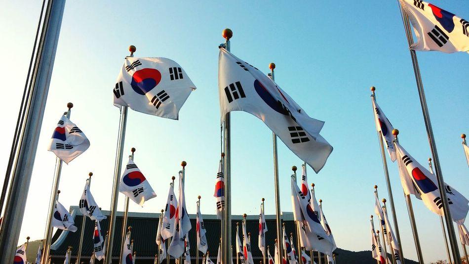 태극기 독립기념관 South Korea First Eyeem Photo Flag