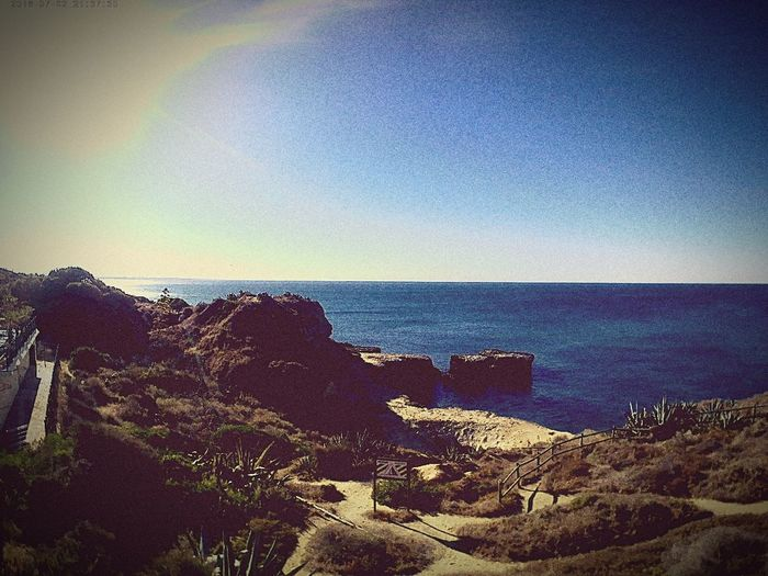 Water Portugal Rock Formation Blue Sky Cliff Horizon Over Water Beach Holiday Firstday Life Withmylove♥ 22052016