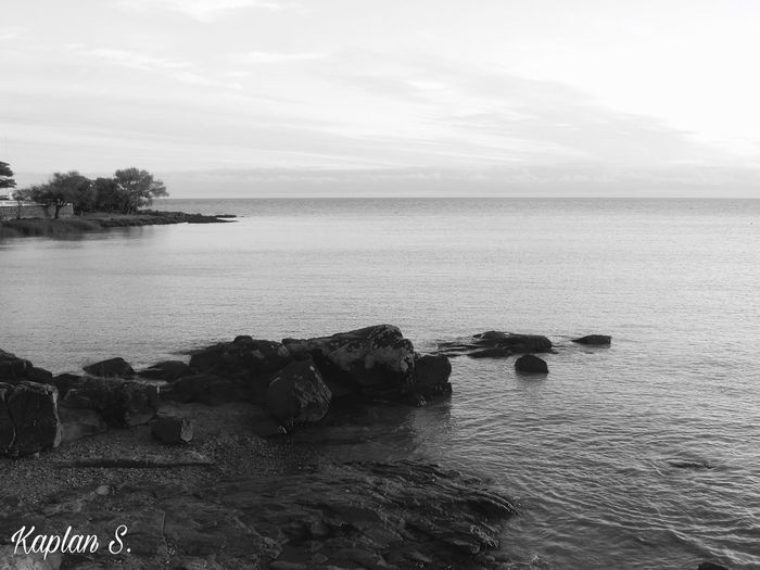 Darker BW1 Beauty In Nature Day Horizon Over Water Nature No People Outdoors Rock - Object Scenics Sea Sky Tranquil Scene Tranquility Water