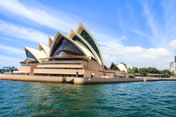 Nice view of Sydney Opera House Sydney Sydney, Australia Sydney Opera House Sydney Harbour  Water Sky Built Structure Architecture Building Exterior Waterfront Cloud - Sky Day Nature No People Transportation Travel Destinations Sea Building Outdoors City Travel Bridge