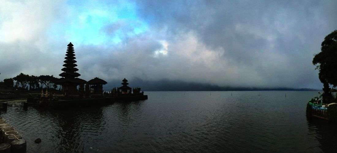 Holy temple for hindu people Danau Bratan Bali Bali Cloudporn Landscape Protecting Where We Play