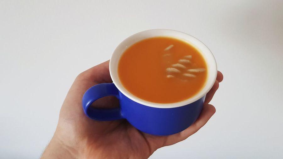 Pumpkin soup in