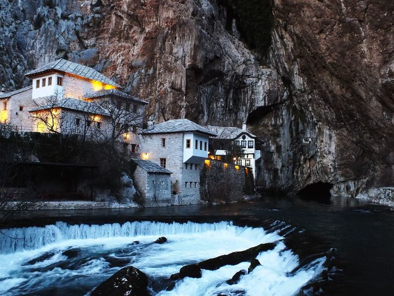 Blagaj Blagaj Tekija Tekija Bosnia And Herzegovina Bosna Mostar Alperenler Water Beauty In Nature No People Mountain Day View VSCO Vscocam Natural Beauty Clear Water Turkeyphotooftheday Turkey Balkans Muslim Special👌shot Architecture Architecture_collection