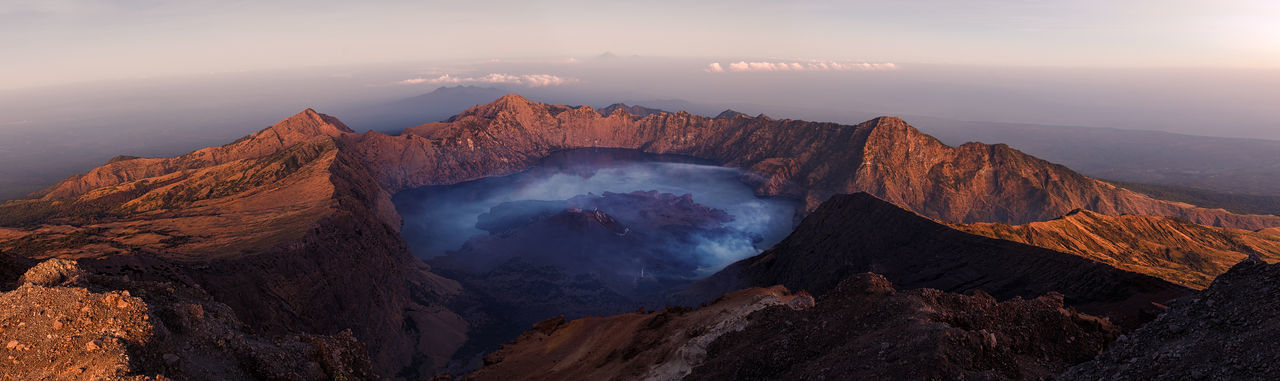 Scenic View Of Volcanic Crater