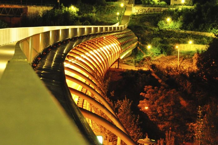 Bridge Bridge - Man Made Structure Bridge View Bridges Brücke Brücken Coulourful Dark Langzeitbelichtung Light Long Exposure