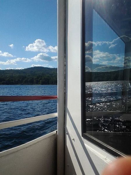 Choppy Waters Sacrament Window Reflections Lake George Boat Ride Reflection Reflections Water Clouds And Sky OpenEdit