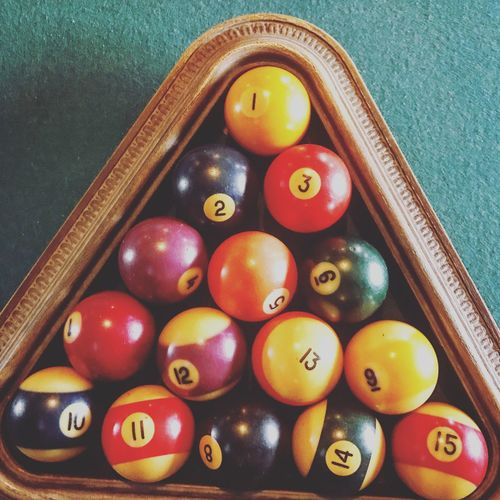 Indoors  Pool Ball Sport No People Table Close-up Cue Ball