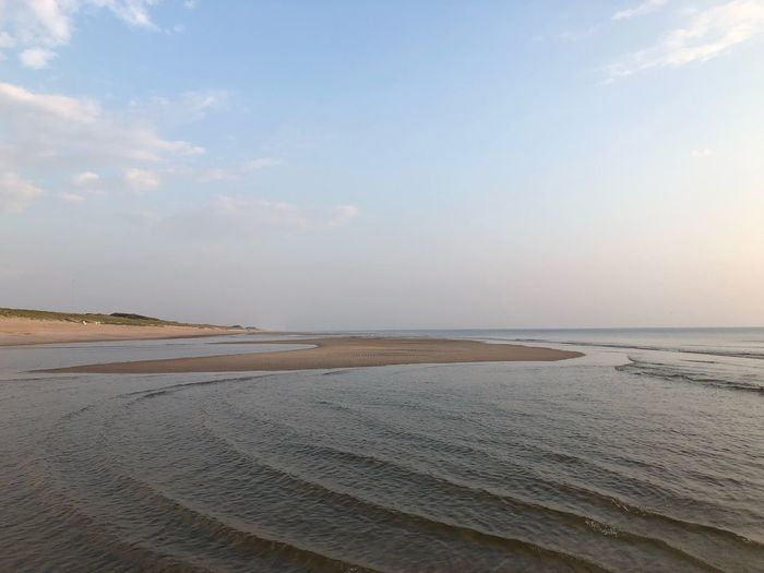 Tide Sky Scenics - Nature Beauty In Nature Water Tranquility Land Beach Sea Tranquil Scene Sand Horizon Over Water Horizon Nature Idyllic No People Non-urban Scene Day Remote Salt Flat Cloud - Sky
