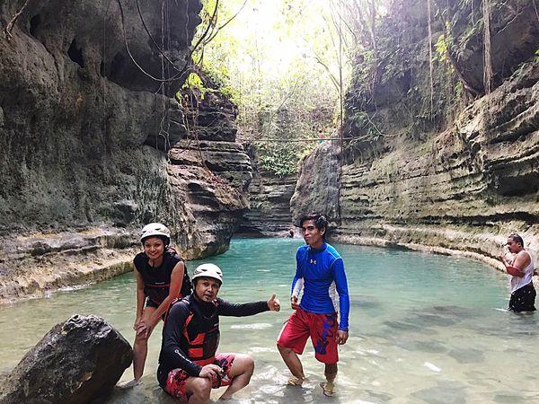Canyoneering at Kawasan Falls Badian,Cebu. Philippines