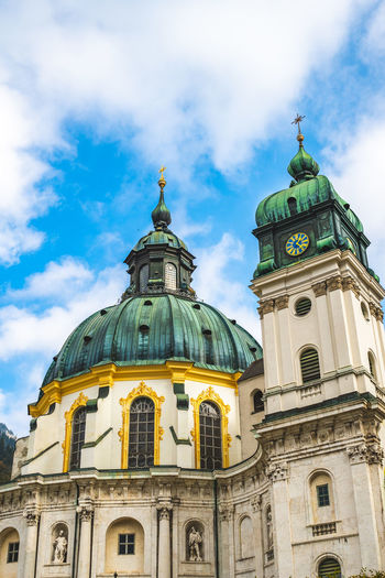 Abby Ettal, Bavaria, Germany Building Exterior Built Structure Architecture Dome Sky Belief Place Of Worship Religion Spirituality Cloud - Sky Building Low Angle View Travel Destinations Nature No People Travel Outdoors Spire  Abby Ettal Bavaria Germany