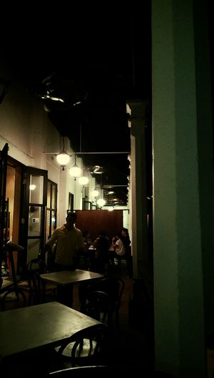 Couple Night Bar Vocation Lights