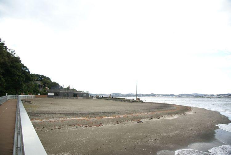 今回は早めに来たってことも有るけど、浜辺には誰も居らず、この時はまだ無人島っぽかった(笑) Beach No People EyeEM Tokyo Meetup Photo Walk Taking Photos Snapshot お写ん歩 Walking Around Landscape Seascape Sky And Clouds Cloudy Sky