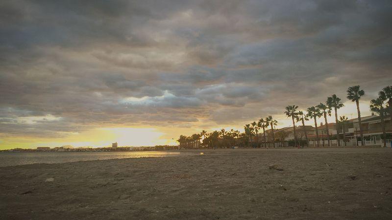 Nunca un atardecer fue menor Mar Menor Los Alcázares Los Narejos Atardecer Beach Sunset Sand Outdoors Sea Tranquility Landscape