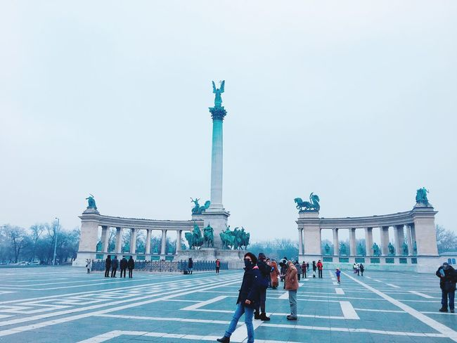 Tourism Hungary Europe Freezing Cold Temperature