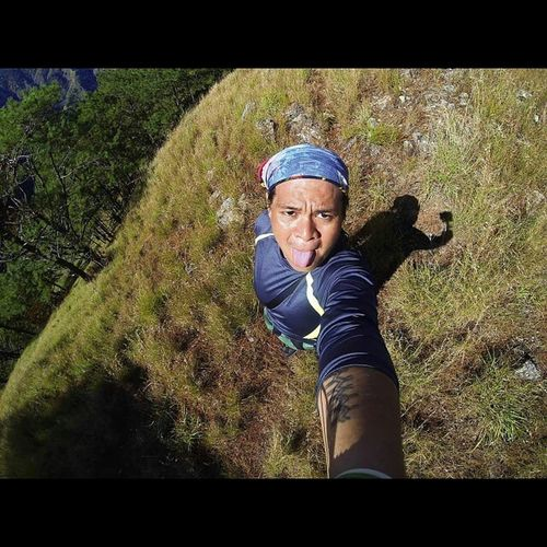 Buwis buhay selfie. Trail from Saulay campsite to Pakpako campsite going to Mt. Sicapoo summit. AIDSventure AsankaAids Travel Travelph Mountain Phmountains MtSicapoo IlocosHighestMountain Ridge Mountaineer Pinoymountaineer GoProHero3BE Goproph  Goprophilippines Lovetogopro Goprotravel Gopro Itsmorefuninthephilippines
