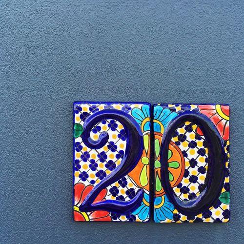 May all house numbers be that beautiful 😍 Numbers Number Twenty Tiles Housenumber Handmade Art ArtWork Colorsplash Wall