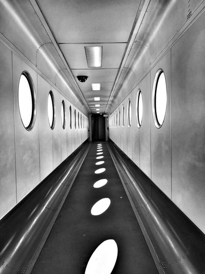 Passenger boarding bridge of airplane