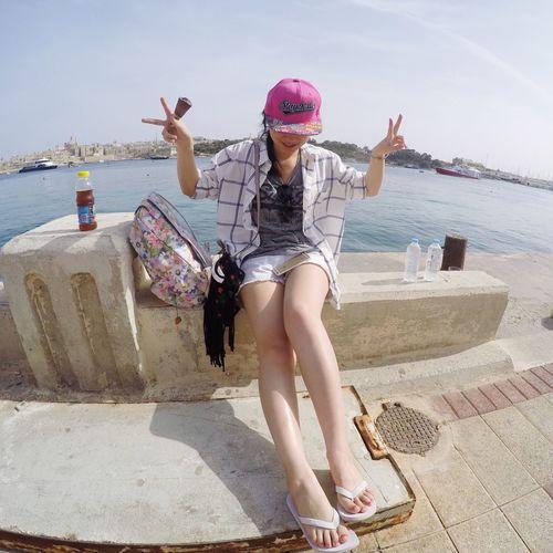 That's Me Hello World Relaxing Enjoying Life Malta Hanging Out Hi! Traveling Sunnyday Hello World Seaside Mediterranean  Super beautiful Malta!!!💙💙💙