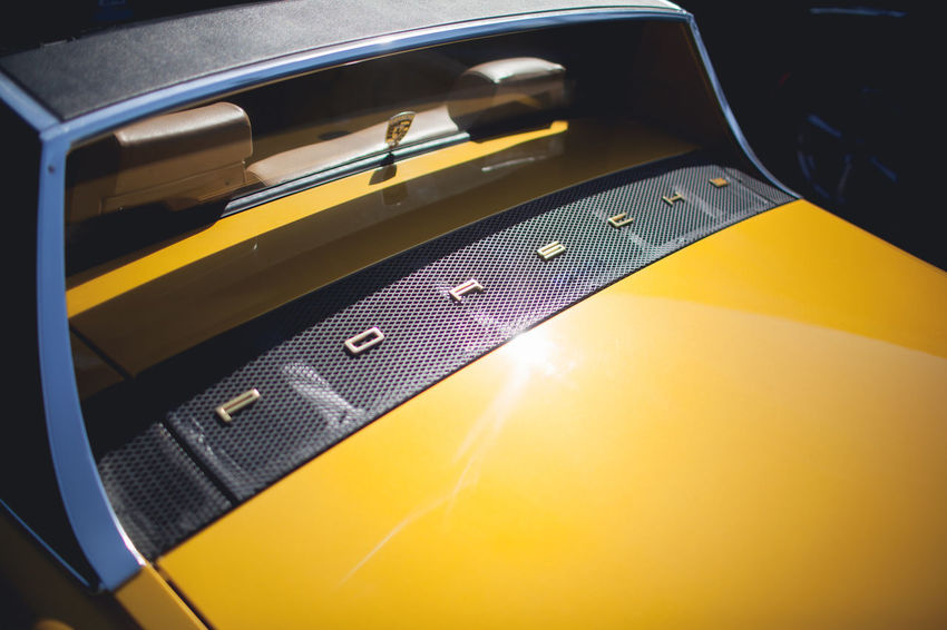 The LA Series / 35mm / Canon 5d Yellow Close-up No People Communication Technology Car Still Life Motor Vehicle Land Vehicle Retro Styled Transportation Mode Of Transportation Indoors  Wireless Technology High Angle View Connection Mobile Phone Portable Information Device