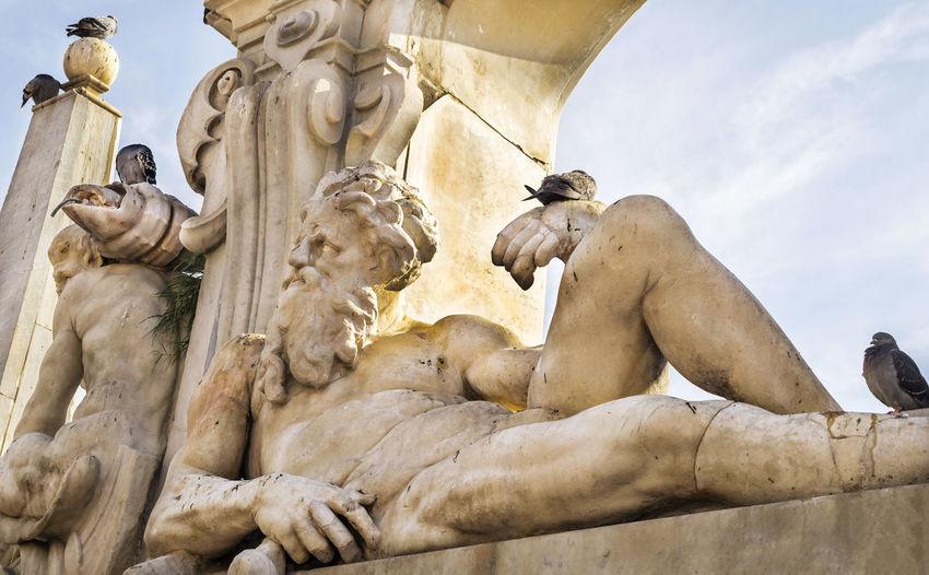 Low angle view of fontana del sebeto