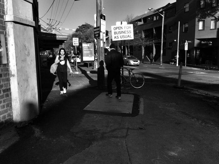 The rush Walking Around Monochrome
