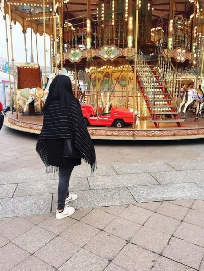 Round & round like a horse in a carousel 🎠 One Person Standing People Paris City France First Eyeem Photo