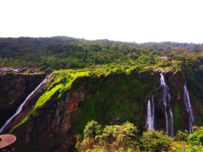 Water Falls Beauty In Nature Clear Sky Forest Mountain Nature Outdoors Scenics Sky Tree Water Waterfall Western Ghats Western Ghats India