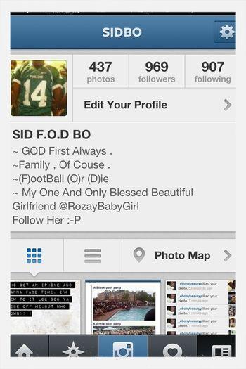 Ya Follow Me On IG @SIDBO