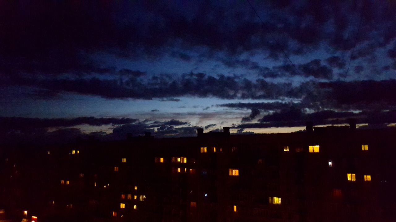 night, sky, illuminated, architecture, building exterior, no people, built structure, cloud - sky, weather, city, cityscape, outdoors, storm cloud, nature, beauty in nature, thunderstorm