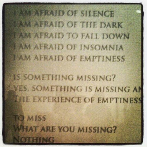 """""""I am Afraid"""". Louise Bourgeois"""
