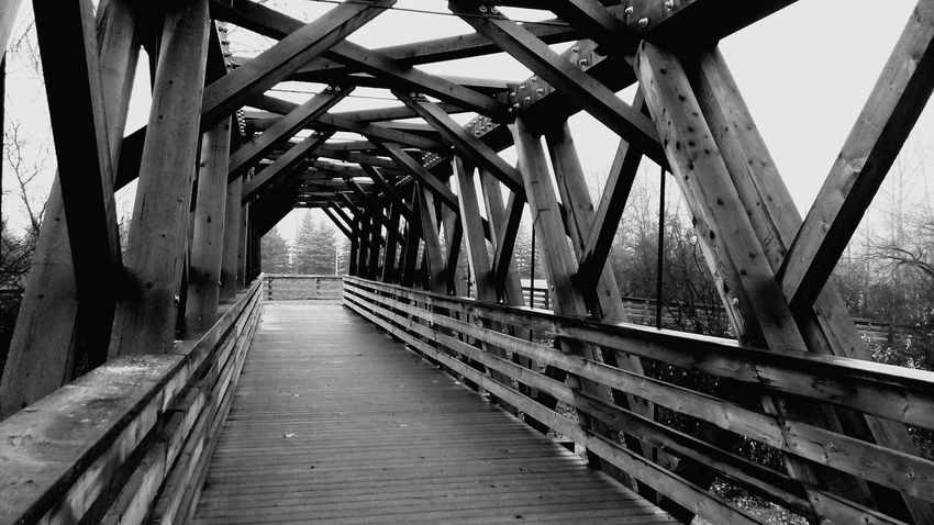 Nature Stroll Through Nature Old Bridge Walking Bridge