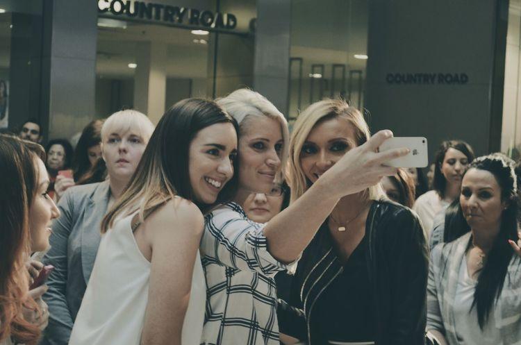 Celebrity Selfie Casual Clothing Enjoyment Friendship Fun Happiness Leisure Activity Lifestyles Portrait