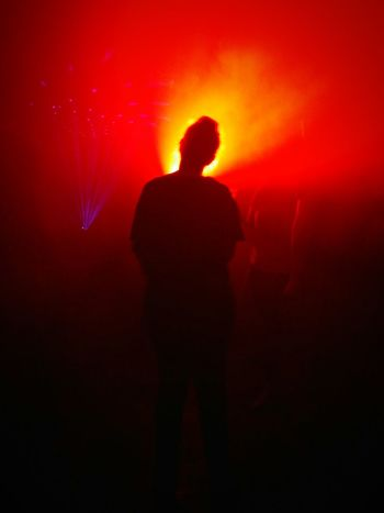Silhouette Nightlife Spooky One Person People Horror Standing Night One Man Only Red Illuminated Performance Adult Only Men Indoors  Nightclub Men Human Body Part Adults Only Halloween Drum And Bass Drumandbass