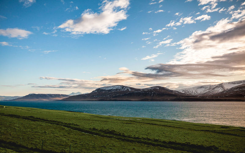 Sky Scenics - Nature Mountain Beauty In Nature Cloud - Sky Tranquil Scene Environment Landscape Water Mountain Range Nature Lake No People Idyllic Non-urban Scene Land Outdoors Iceland Landscape Photography