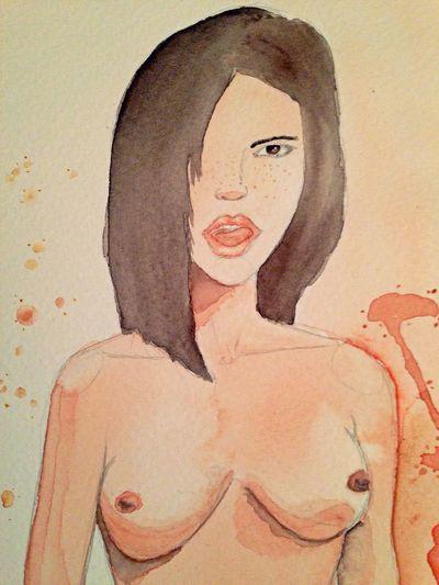 Experimentando con Acuarela Watercolor Chichis Pa La Banda