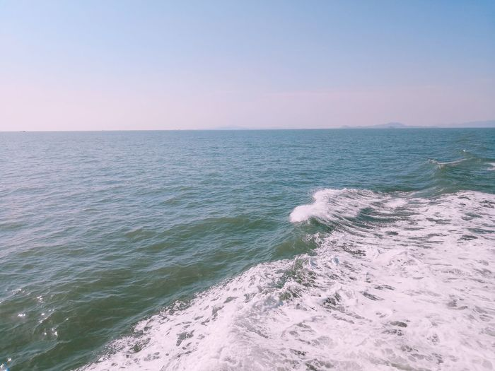 Sea Water Horizon Over Water Sky Horizon Beauty In Nature Scenics - Nature Nature Beach Land Motion Tranquil Scene Tranquility Day Wave Idyllic Clear Sky Outdoors