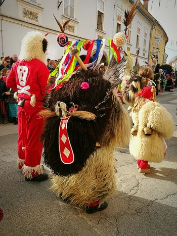 Celebration Arts Culture And Entertainment Costume Full Length Traditional Festival Animal Themes People Mammal Celebration Carnival Crowds And Details Parade Carnival Period Costume Large Group Of People Outdoors Traditional Costume Kurent Kurentovanje Carnival Crowds And Details