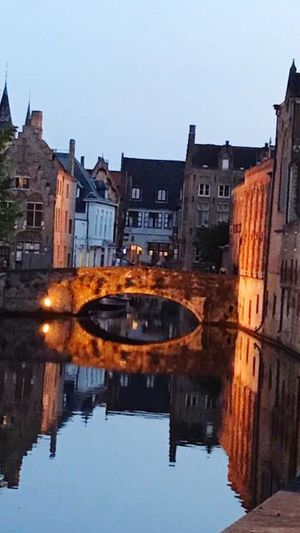 Your Ticket To Europe Brugge, Belgium Architecture Built Structure Reflection Water No People Around The World With My Babes