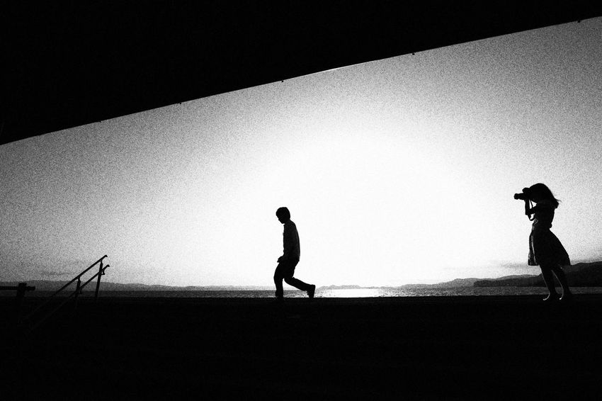 Monochrome Black & White Taking Photos Lovers Silhouette June 2016