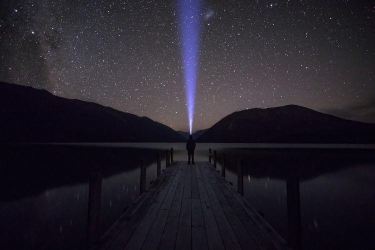 Dark Galaxy Landing Mirror Nightphotography The Week On EyeEm Astro Astrophotography Lake Long Exposure Milky Way Night Nightscape Ray Of Light Stars Universe Lost In The Landscape The Great Outdoors - 2018 EyeEm Awards The Traveler - 2018 EyeEm Awards