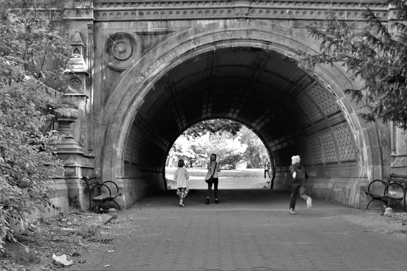 Architecture Black And White City Day NYC Parks NYC Photography Outdoors Portal Real People